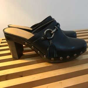 Black Coach Ladies Clog